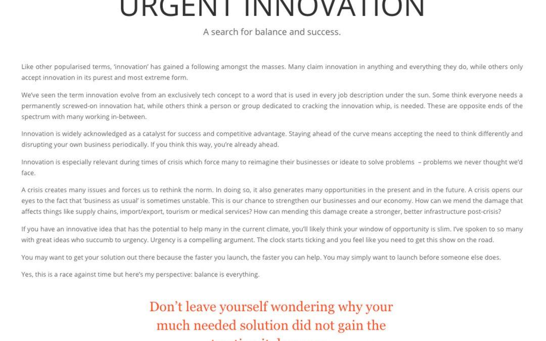 Urgent Innovation